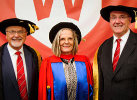 Lucy Turnbull with Professors Peter Shergold and Barney Glover
