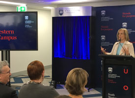 Lucy Turnbull AO speaking at the University of Wollongong