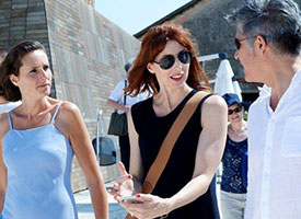 Maria Atkinson with attendees at the 15th International Biennale in Venice