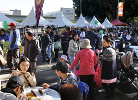 Crowds attending the Bankstown Bites festival