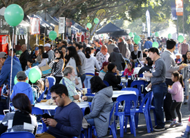 A large of people at the Bankstown Bites festival