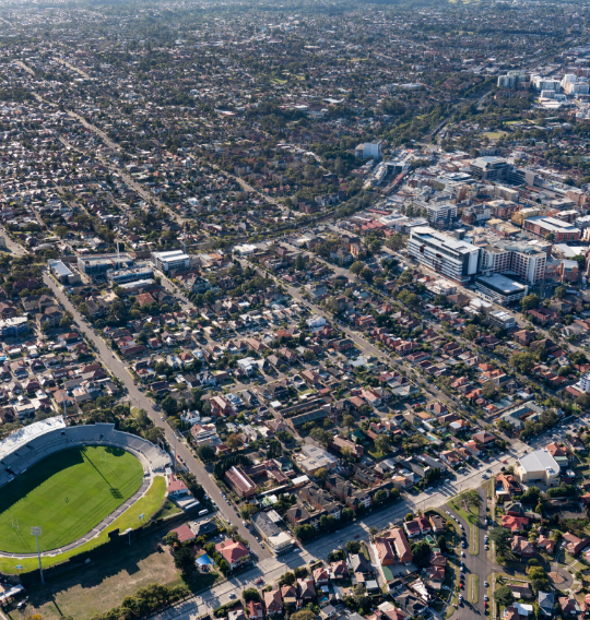 Aerial view of Kogarah Collaboration Area