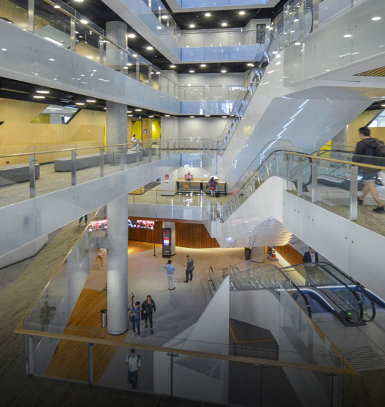 Interior view of the Western Sydney University campus