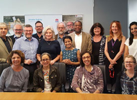 The delegation at the Greater Sydney Commission with Social Commissioner Heather Nesbitt