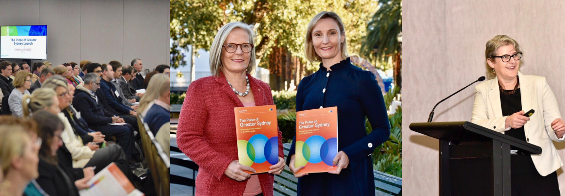 Lucy Turnbull and Sarah Hill launching the Pulse of Greater Sydney