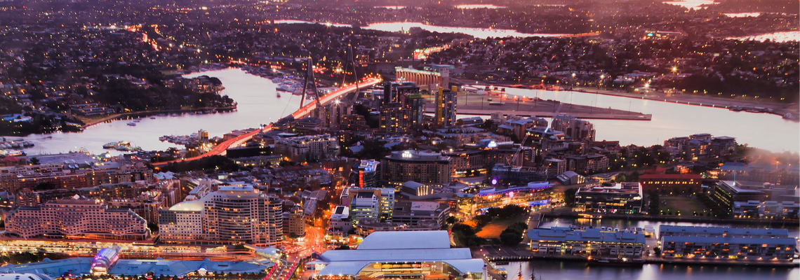 Pyrmont aerial view