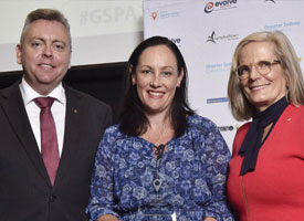 Anthony Roberts and Lucy Turnbull with GSPA winner