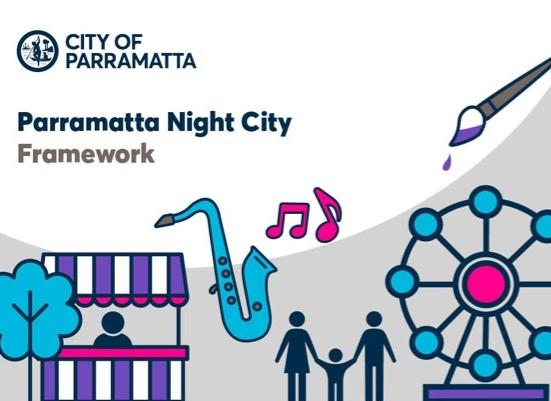 Parramatta night city framework document cover