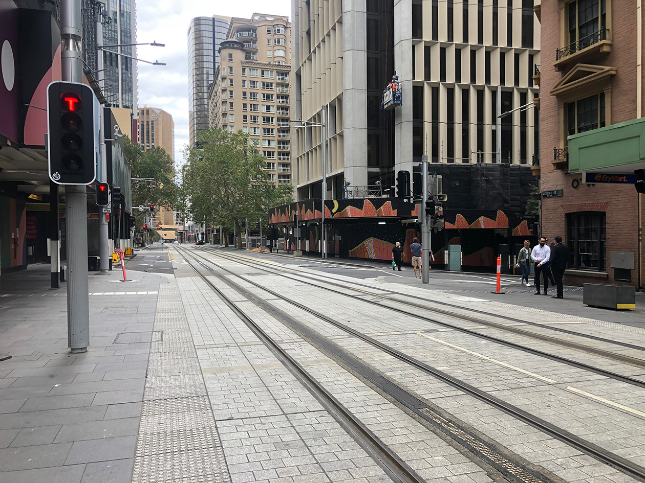 George St during Covid
