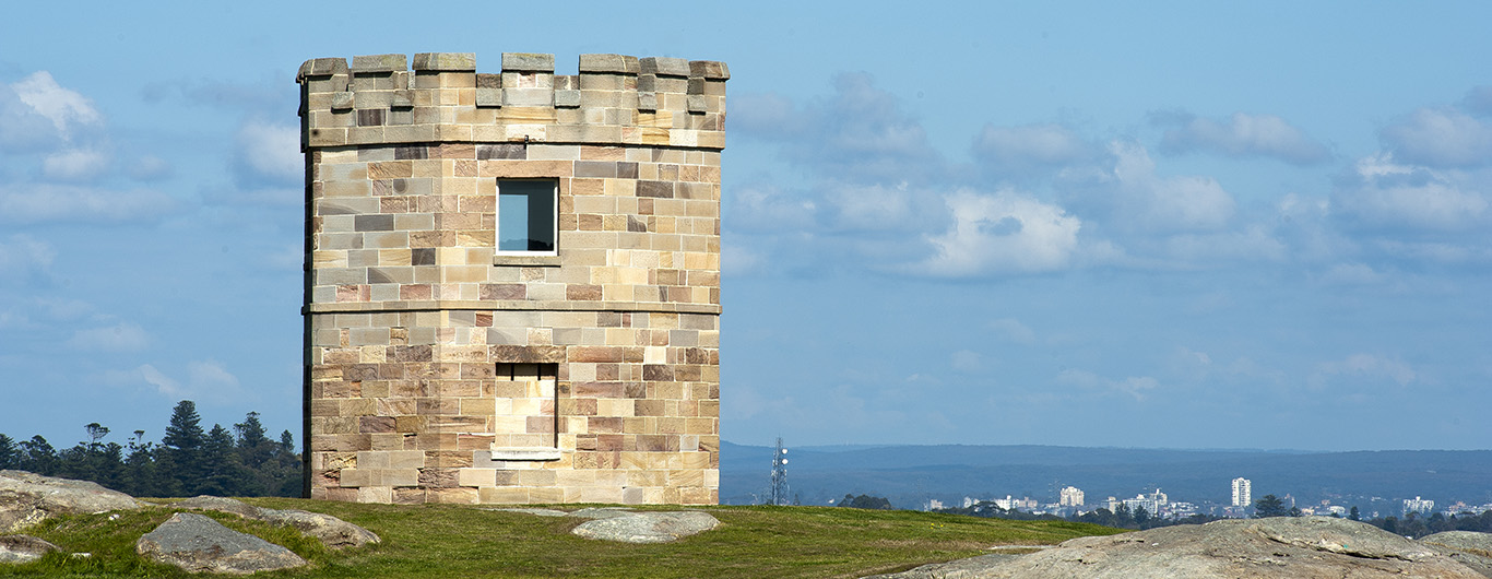 Photo of the historic Customs Tower La-Perouse Botany Bay.