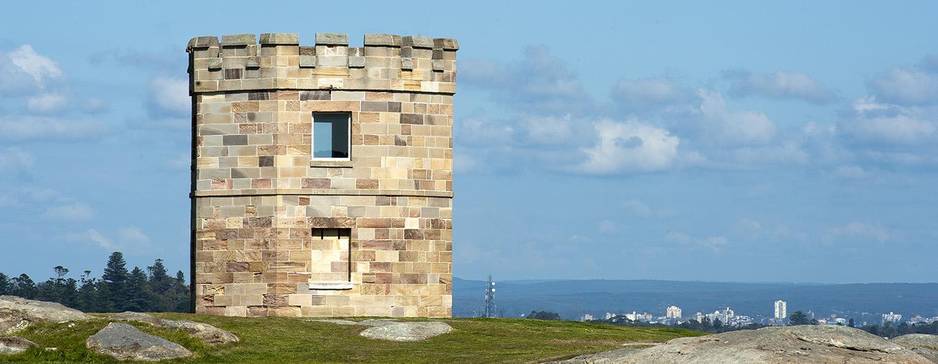 Photo of the historic Customs Tower La-Perouse Botany Bay.