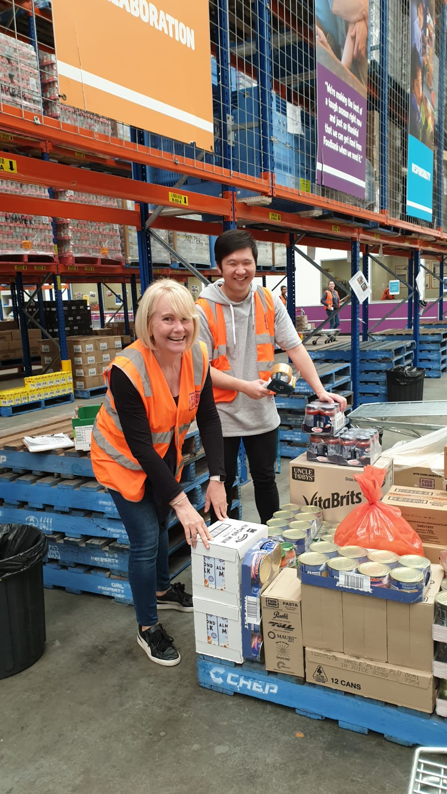 Foodbank volunteering