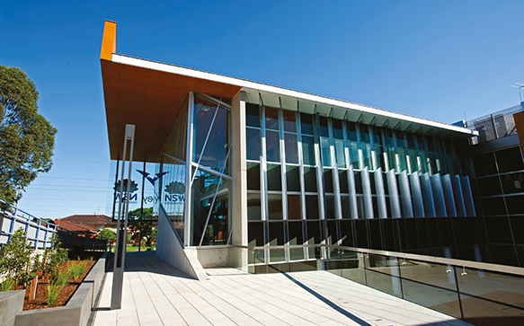 Photograph of the exterior of Blacktown Hospital School of Medicine.