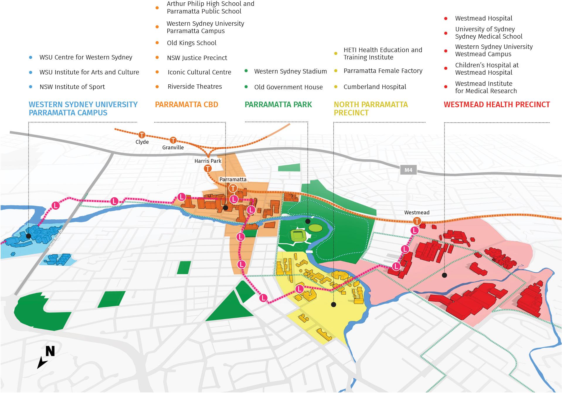 Figure 33: Diagram showing Greater Parramatta.