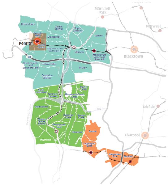 Western Sydney Parklands map