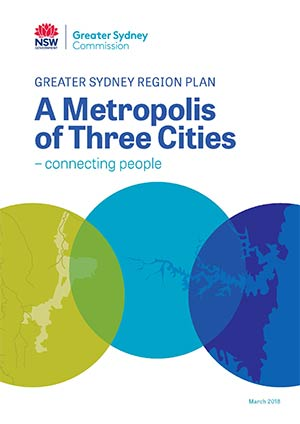 Cover of the Greater Sydney Region Plan