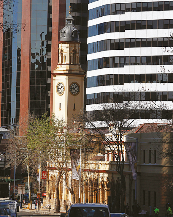 A photo showing the North Sydney Post Office and surrounding office buildings.