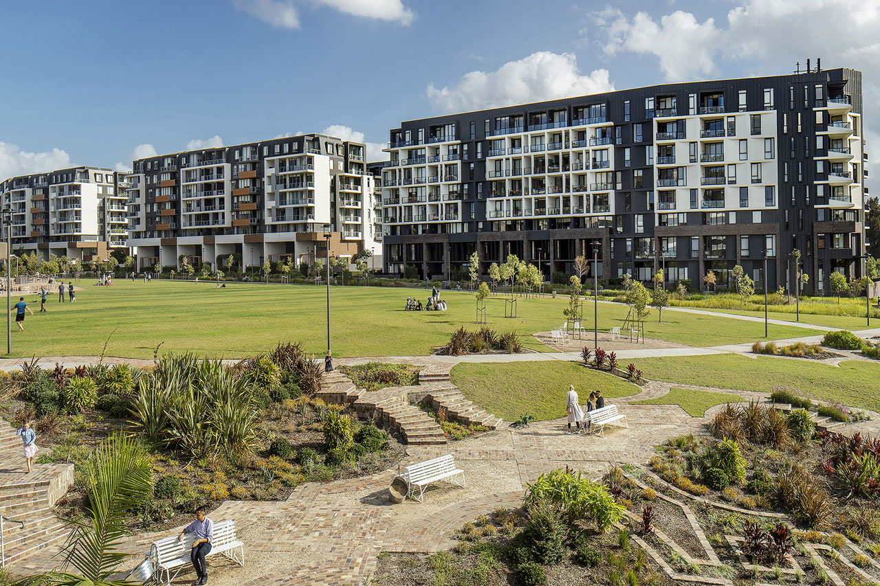View of the Harold Park development