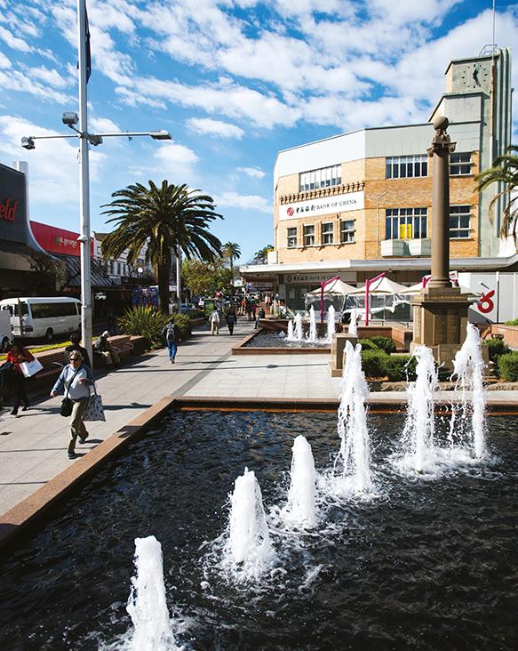 A photograph of Hurstville town centre