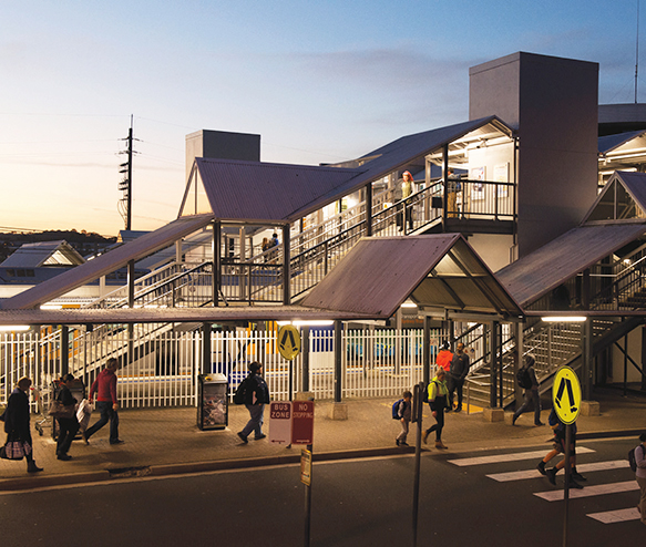 A photograph of Campbelltown Railway Station.