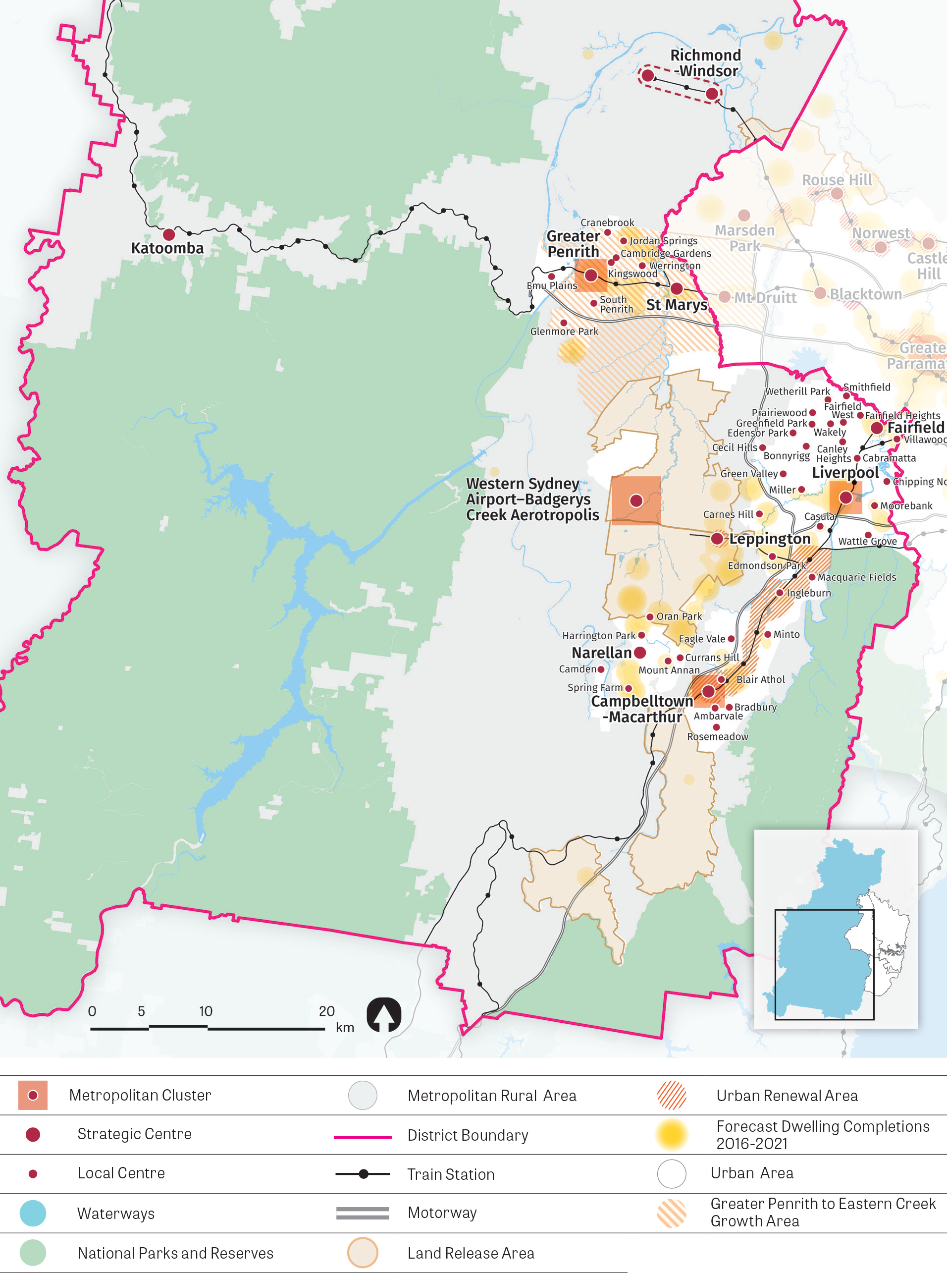 Map of Western City District future housing supply
