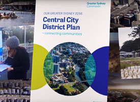 The cover of the Central City District Plan