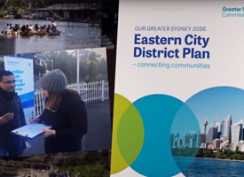 The cover of the Eastern City District Plan