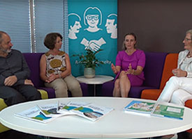 Rod Simpson, Heather Nesbitt, Sarah Hill and Lucy Turnbull in discussion