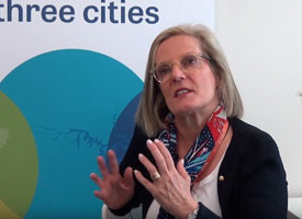 Lucy Turnbull speaking to camera